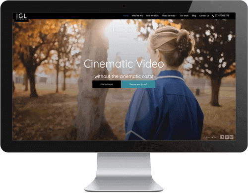 IGL Films website design