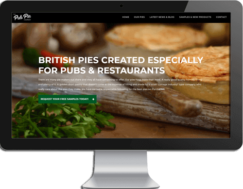 Pub Pie Website Design