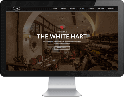 The White Hart website design Herts